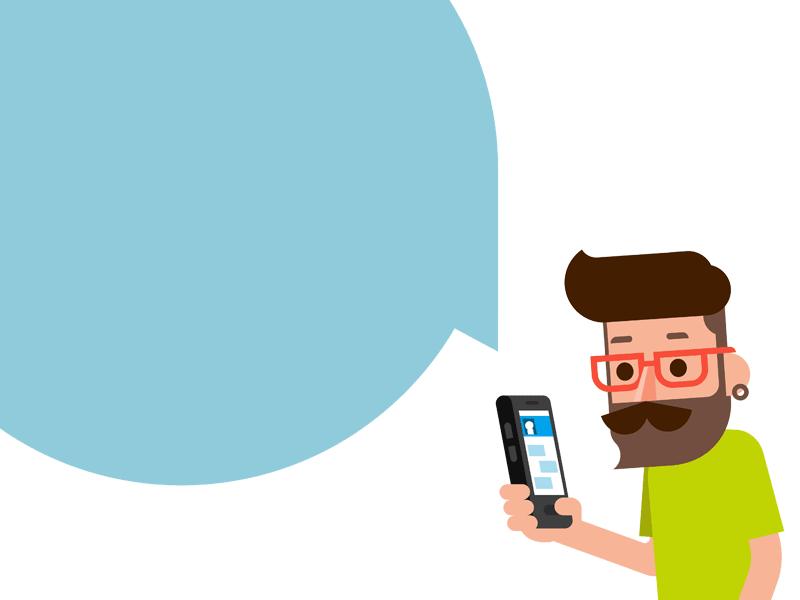 FloSocial Smartphone Man