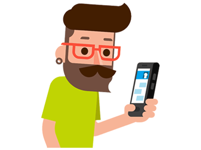 Smartphone Man FloSocial